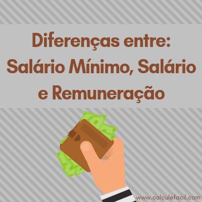 Diferenças entre Salário Mínimo, Salário e Remuneração