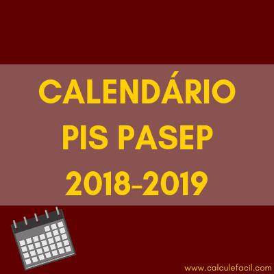 Calendário PIS PASEP (2018 e 2019)
